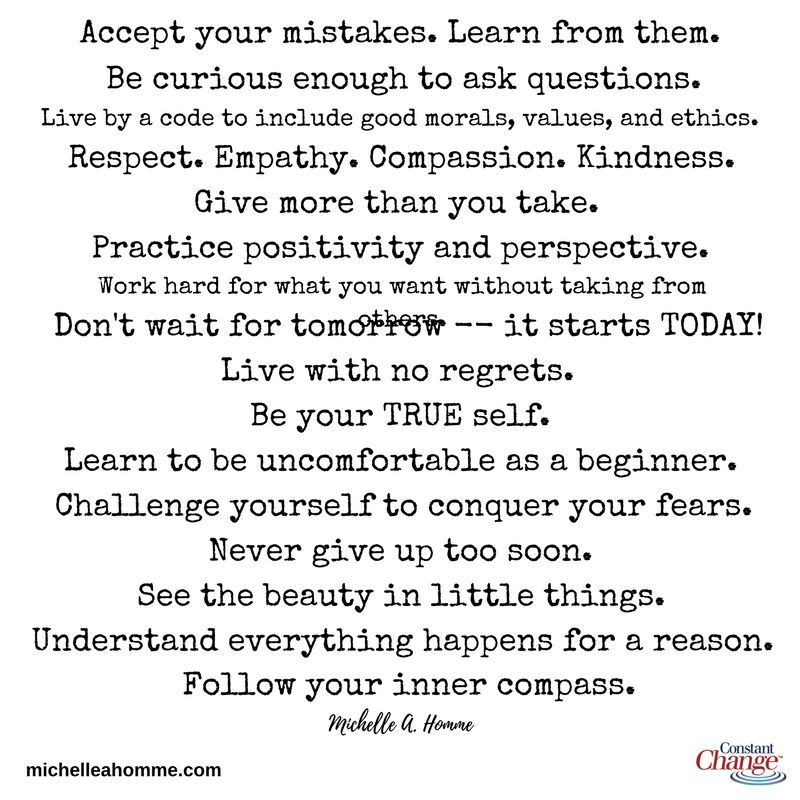 Simple words to living your BEST life Positive Inspirational