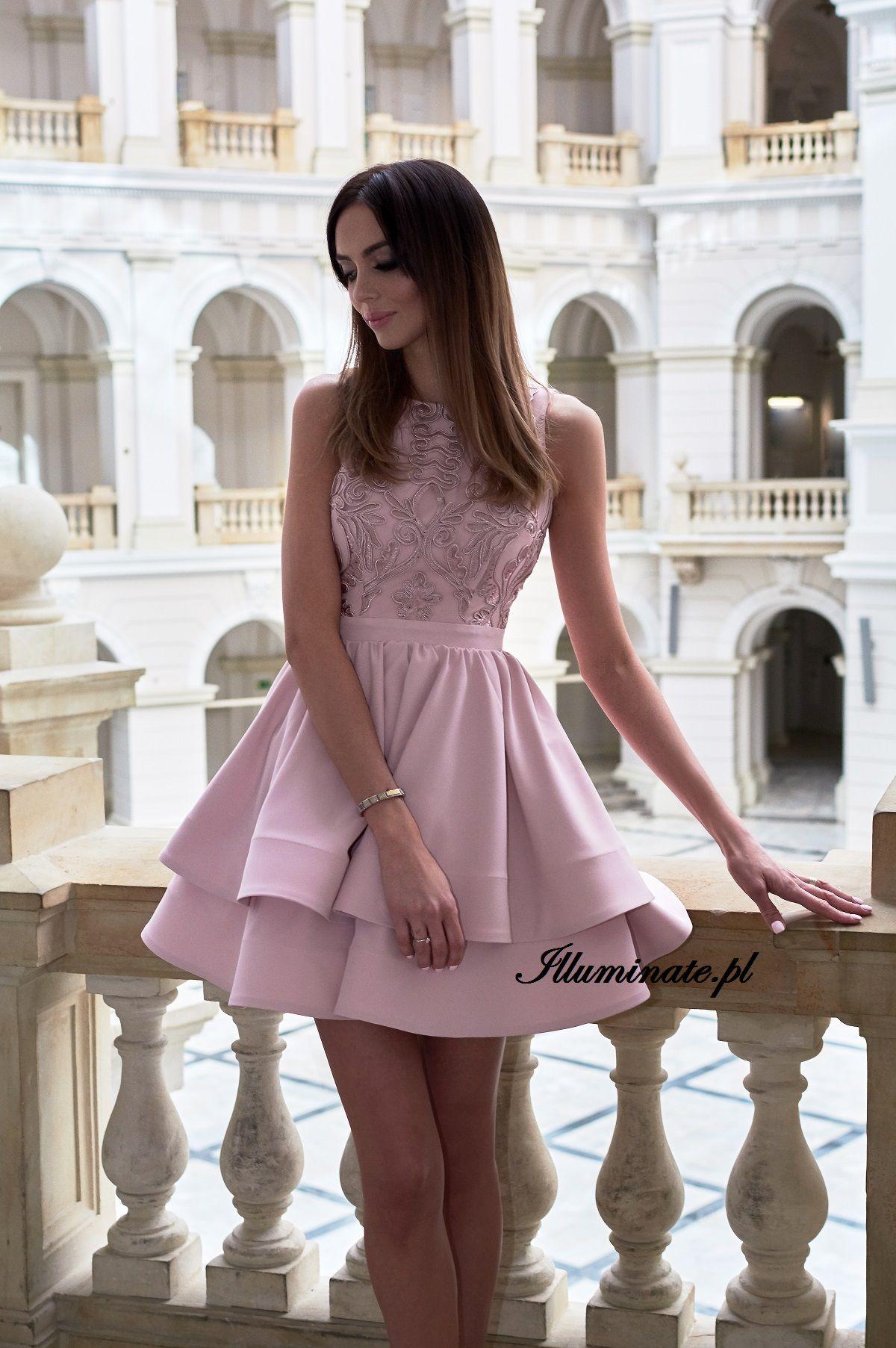 bc2c7eee29 Jasmin - pudrowo rozowa sukienka na wesele. Pastel pink dress  pastel  pink   dress  rozowa  sukienka  wesele  swiadkowa  poprawiny