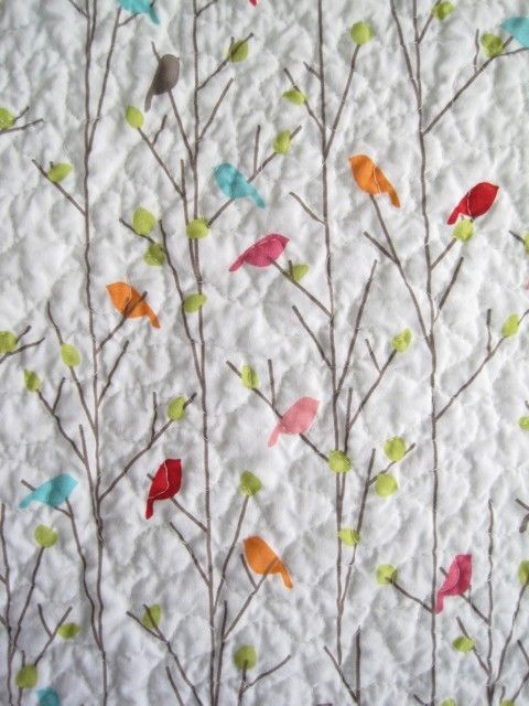 bird quilt LOVE LOVE TRIPLE LOVE! In blues , purples, and accent ... : quilts with birds - Adamdwight.com