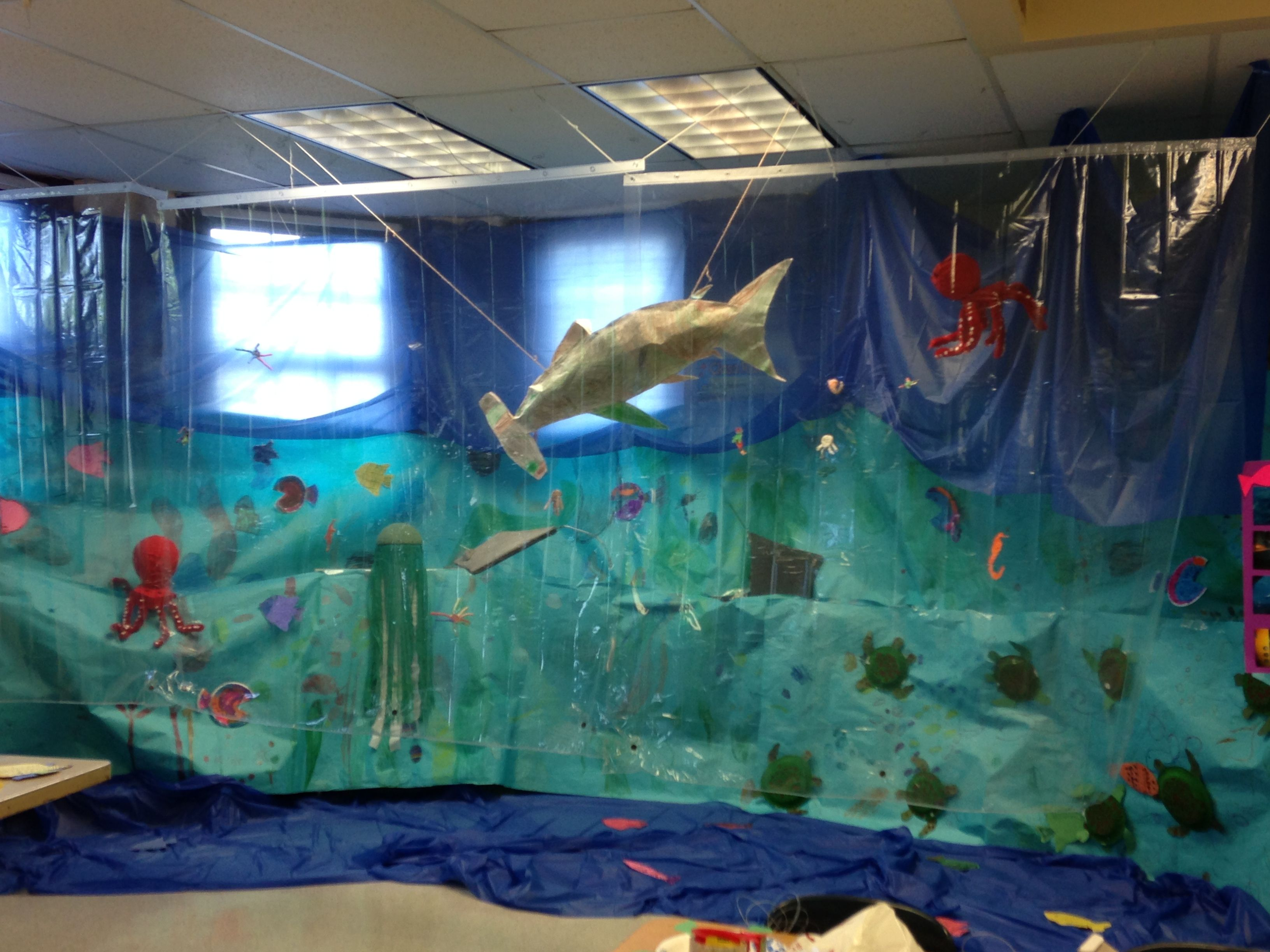 Classroom Aquarium Ideas : Our kindergarten team built a classroom aquarium each