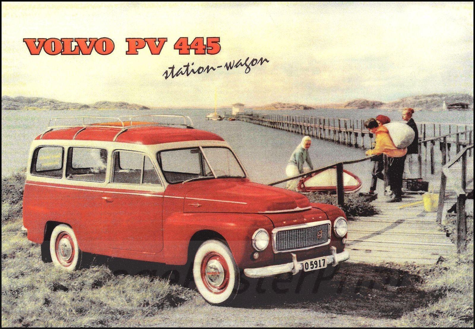 Volvo PV445 Duett 1953 1969 Sweden Vintage Poster Art Print Vintage ...