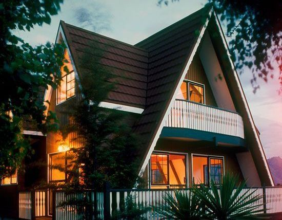 a-frame cabins with dormers