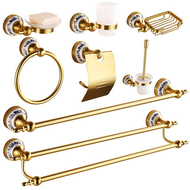 Antique Gold Brushed Bathroom Accessories Brass Porcelain Aluminum - Antique gold bathroom hardware