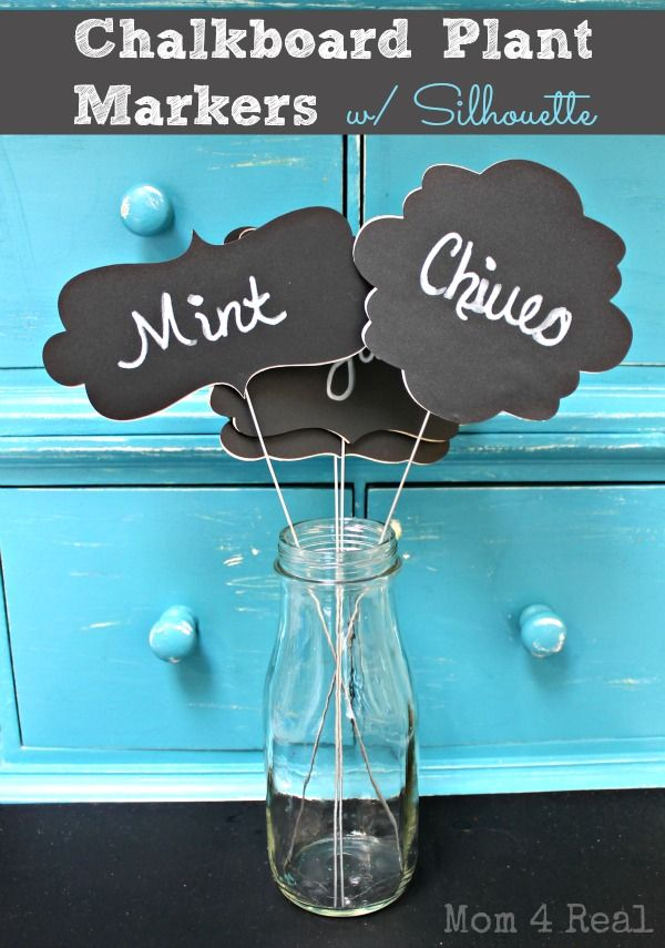 Great Chalkboard Plant Markers With Silhouette