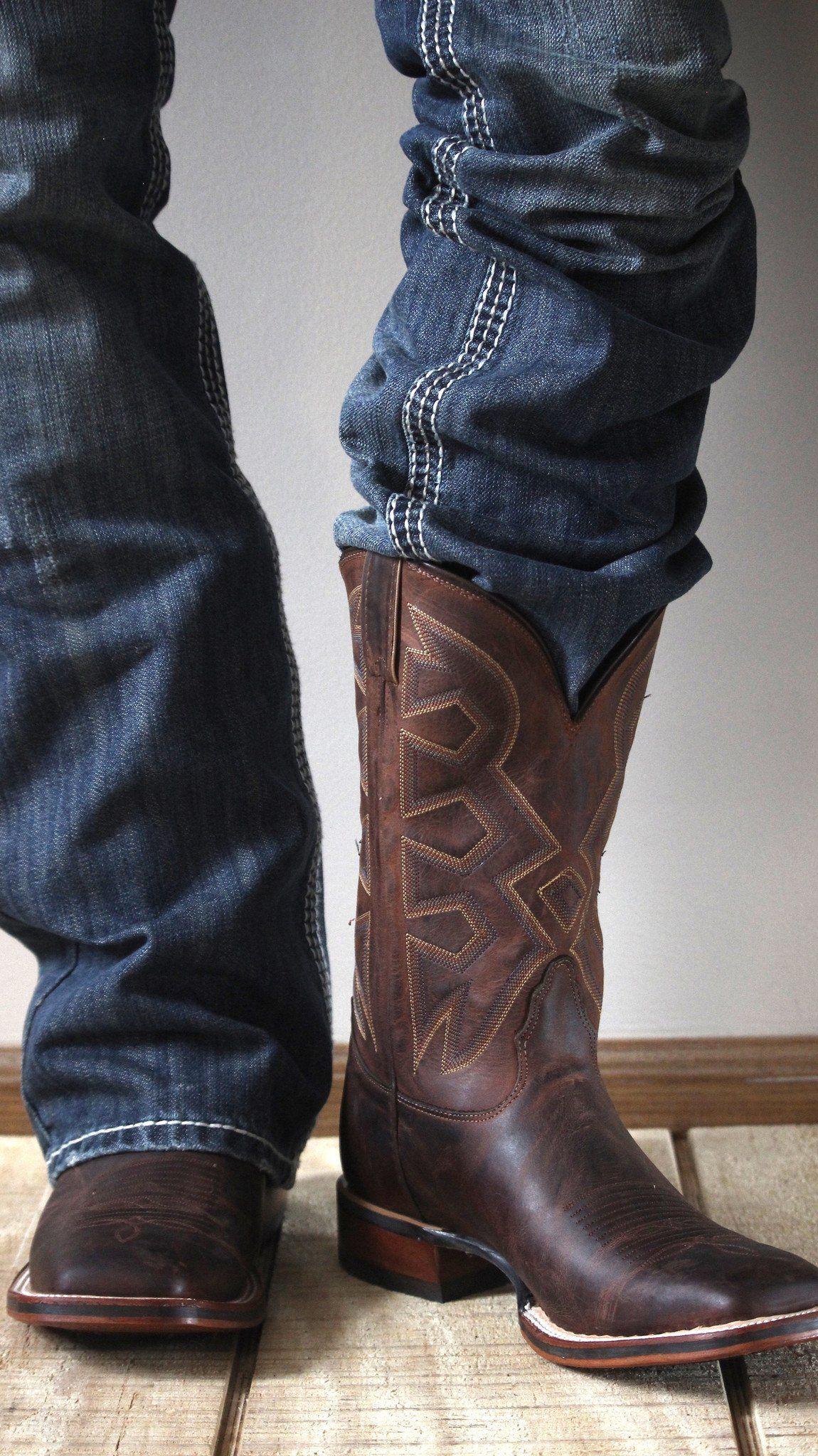 0e1acb813e9 Nocona Men's Cognac Zulu Let's Rodeo® Cowboy Boot MD5301 | Much ...