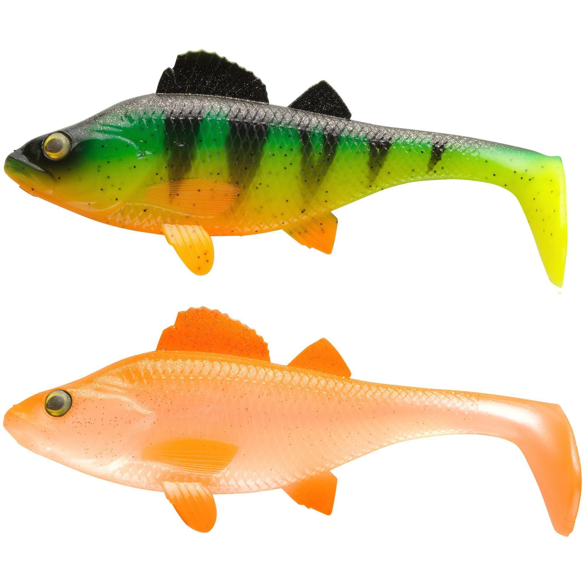 Caperlan - Hengelsport - Softbaits - Softbait shad voor kunstaasvissen Set Perch 170 baars/naturel. Onze ontwerpers, zelf fervente hengelaars, hebben deze shad ontwikkeld voor het vissen op roofvis in zoet water.
