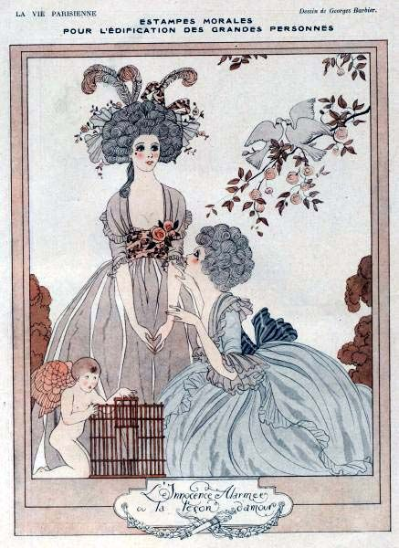 George Barbier (1882-1932) - French Art Deco Fashion Illustrator - La vie Parisienne