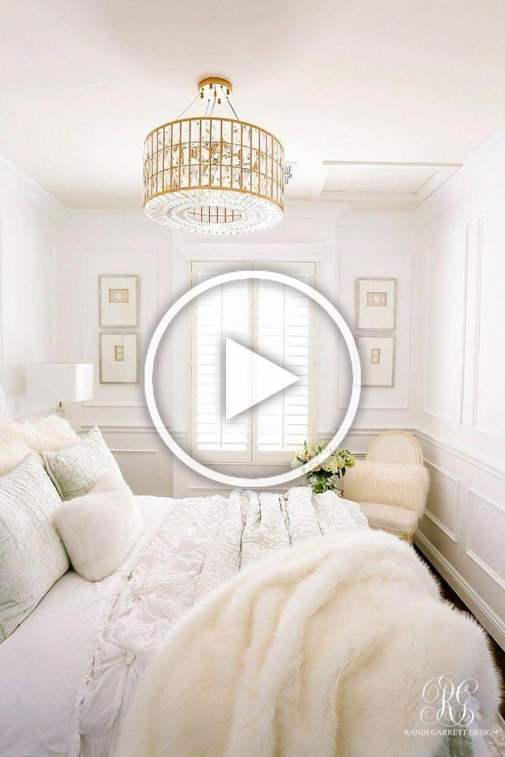 Glam Guest Bedroom White Walls Wainscoting Glam Gold Crystal