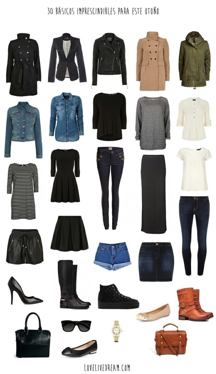 d432e9d26 16 looks con prendas básicas | moda y estilo in 2019 | Prendas básicas,  Cápsula de armario, Ropa básica