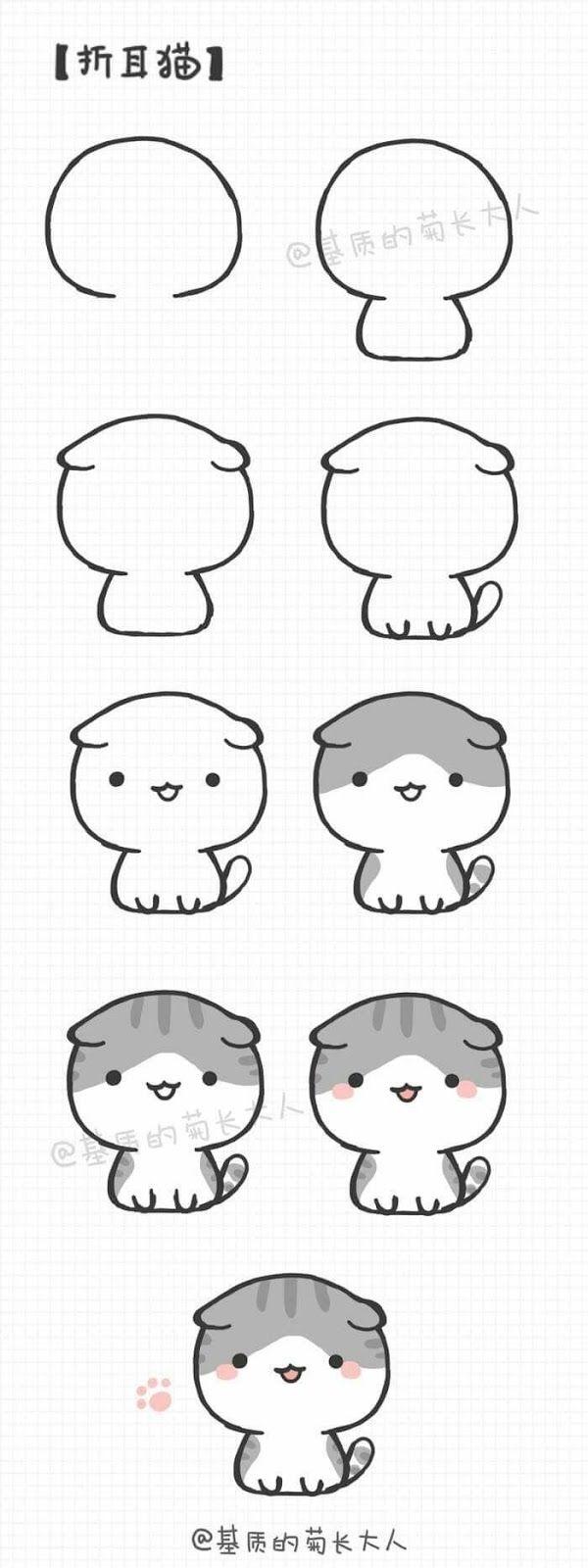Como Dibujar Personales Kawaii Paso A Paso El Como De Las Cosas Dibujos Kawaii Como Dibujar Un Gato Dibujos Kawaii Faciles