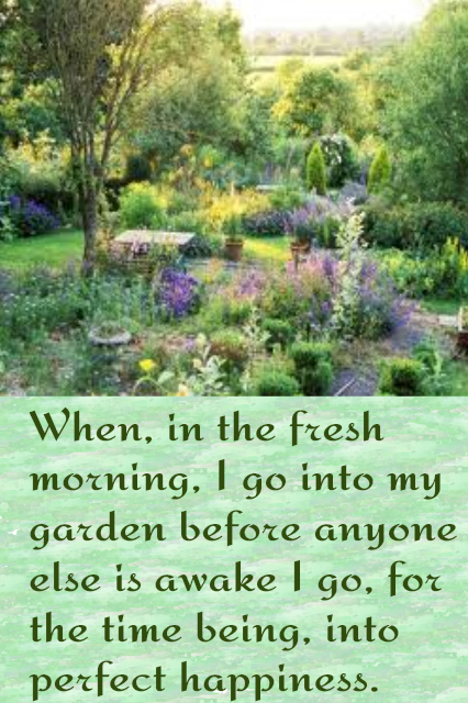 When In The Fresh Morning I Go Into My Garden Before Anyone Else