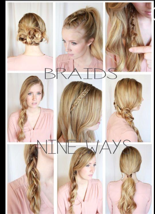 Different Ways To Do Your Hair Hair Hair Styles Hair Braids