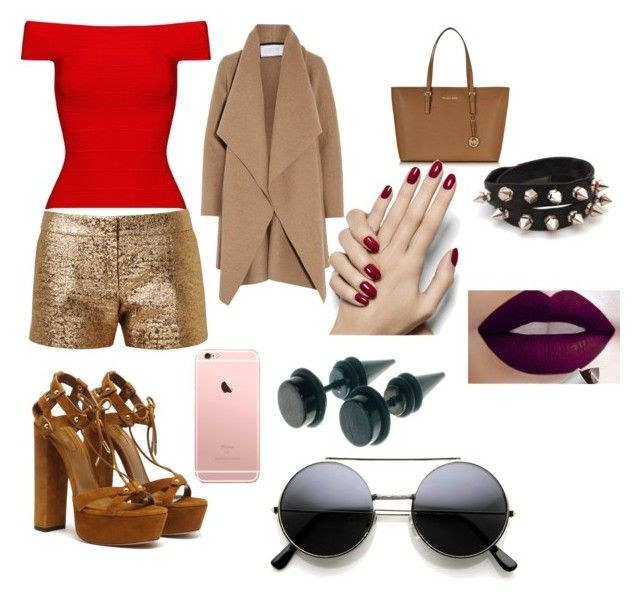 """A day ... "" by ceci-dii on Polyvore featuring Posh Girl, Lanvin, Harris Wharf London and Michael Kors"