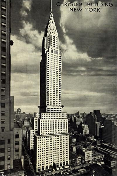 New York City Chrysler Building Xmas Cards Holiday Greeting Old Postcards