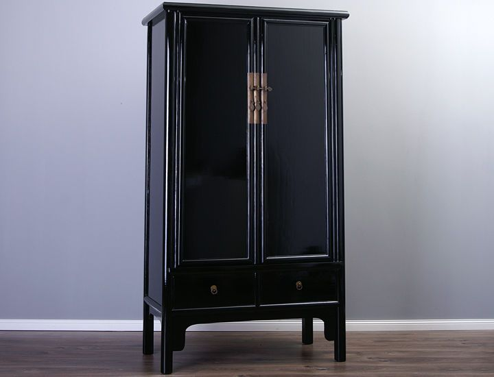 chinesischer schrank hochzeitsschrank schwarz china wohnzimmerschrank k che in m bel wohnen. Black Bedroom Furniture Sets. Home Design Ideas