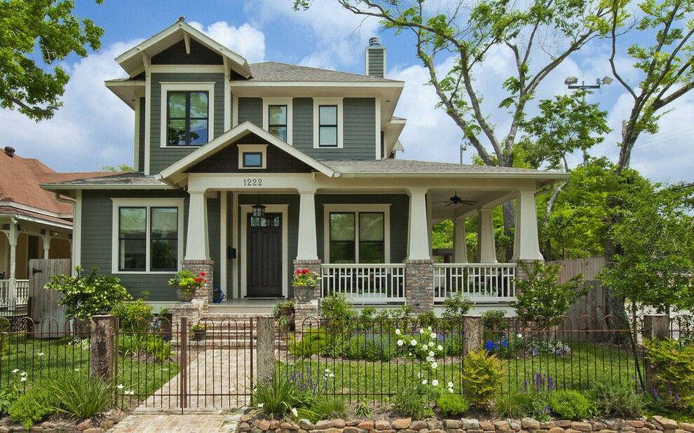 Beautiful Two Story Craftsman With Wrap Around Porch Craftsman Home Exterior Craftsman Exterior Craftsman Style Homes