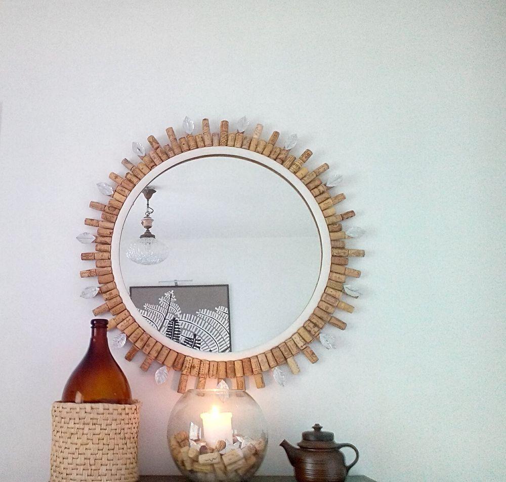 Colorful Wine Cork Mirror Frame Image - Picture Frame Design ...