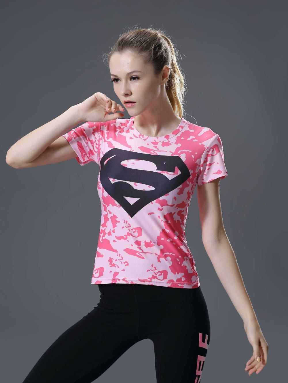 SUPERGIRL Compression Shirt for Women (Short Sleeve)  09373a1dfdb5