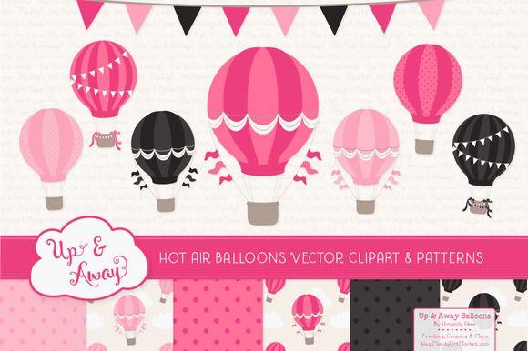 Hot Pink Hot Air Balloons & Patterns  @creativework247