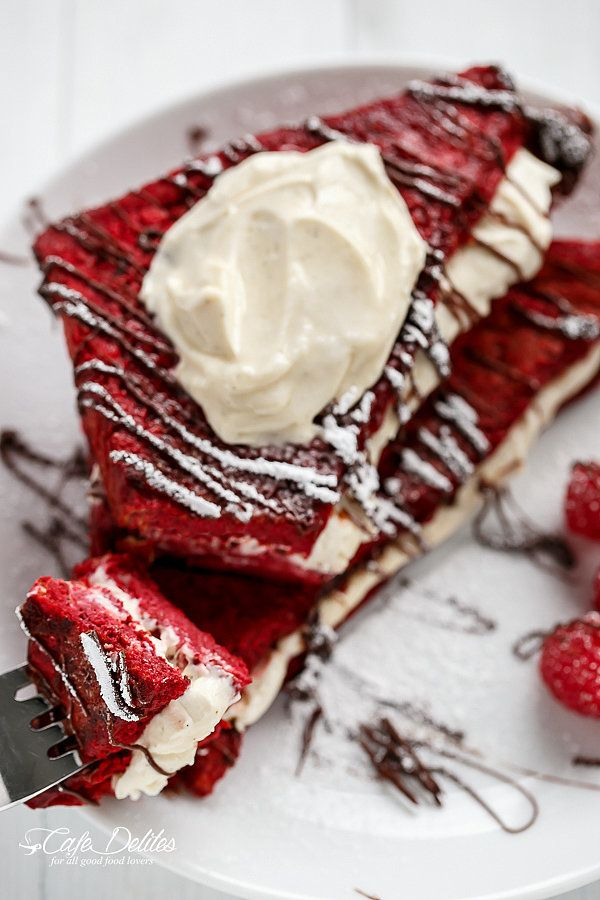 Red Velvet Addicts Will Go Crazy For This French Toast Recipe Recipe Vanilla Bean Cheesecake Red Velvet French Toast Recipe Breakfast Food Truck