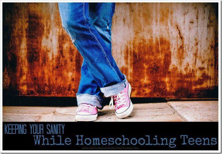 Keeping Your Sanity When Homeschooling Teens