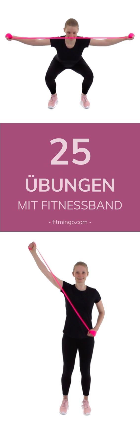 25 Übungen mit dem Fitnessband (Theraband)