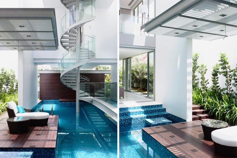 Best Hyla Architects Designs Three Story Home Around Spiral 400 x 300