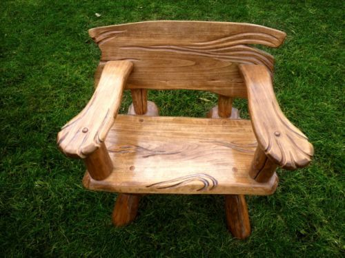 Rustikale Gartenmobel Sitzgruppe Gartengarnitur Massiv Holz In