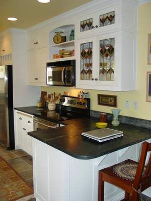 stained glass kitchen cabinets | Stainedglass accents ...