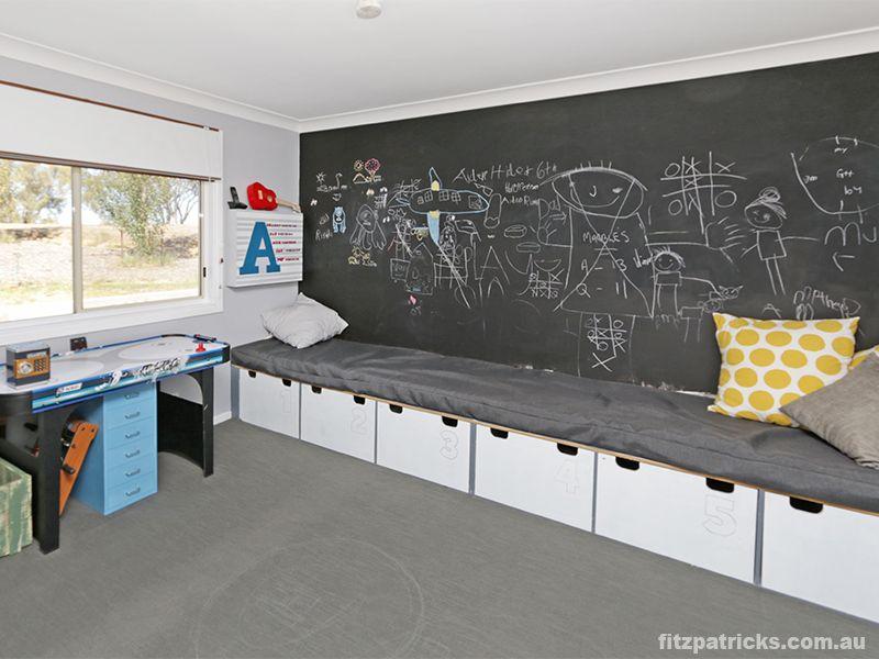 Chalkboard walls are soooo much fun!!  50 Matilda Crescent, GUMLY GUMLY - Fitzpatricks Real Estate Wagga Wagga  #fitzre  #fitzgallery  #fitzgalleryKids