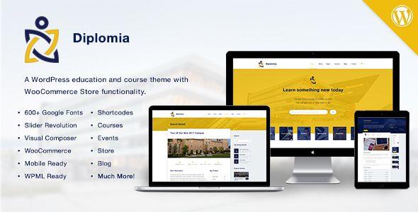 Diplomia v1.0.2 Education WordPress Theme Blogger Template | Web ...