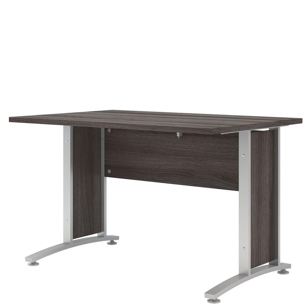Bürosystem Prima Schreibtisch 120x80 cm Eiche Anthrazit Silber ...