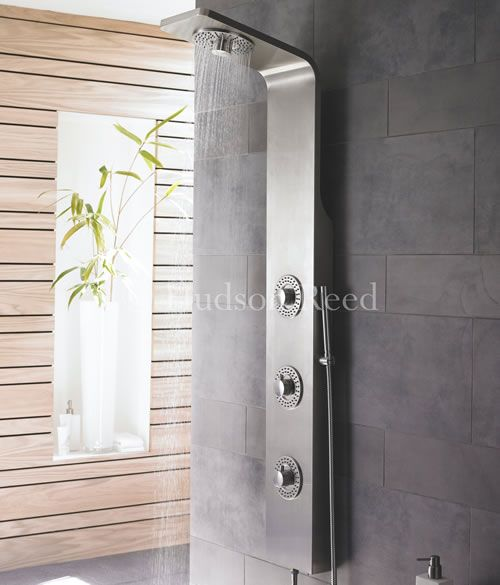 hudson reed colonne de douche thermostatique kalypso douche shower panels bathroom shower. Black Bedroom Furniture Sets. Home Design Ideas