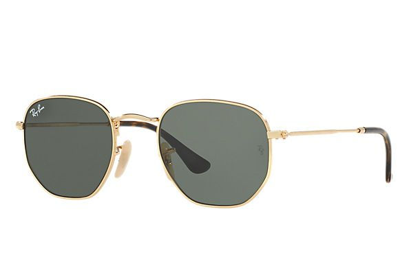 official ray ban online store  Ray-Ban Hexagonal Flat Lenses Gold , RB3548N