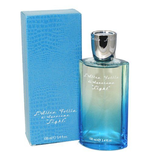 L'Altra Follia Light by Aquarama for Men Eau De Parfum, 3.4 Ounce by Aquarama. $55.99. L'altra Follia Light Cologne for Men Eau De Parfum 3.4 Oz / 100 Ml. All our fragrances are 100% originals by their original designers. We do not sell any knockoffs or immitations.. Packaging for this product may vary from that shown in the image above. We offer many great sales and discounts making this fragrance cheaper than at department stores.. Eau De Parfum 3.4 Oz / 100 Ml for Men. ...
