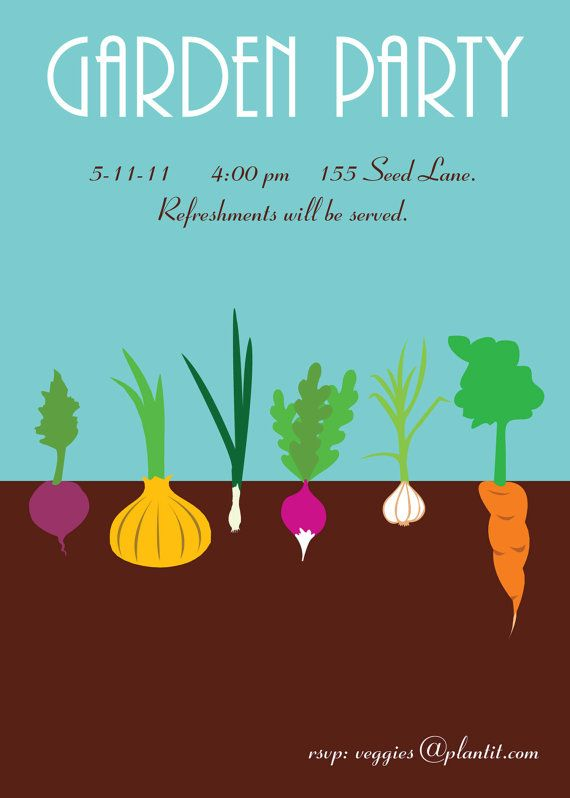 Garden Party Custom Printable Invitation is part of garden Party Poster - instantdownloadgardenpartywater ref listingshopheader2