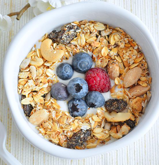 Desayuno fit desayunos saludables pinterest granola for Desayunos sin cocinar