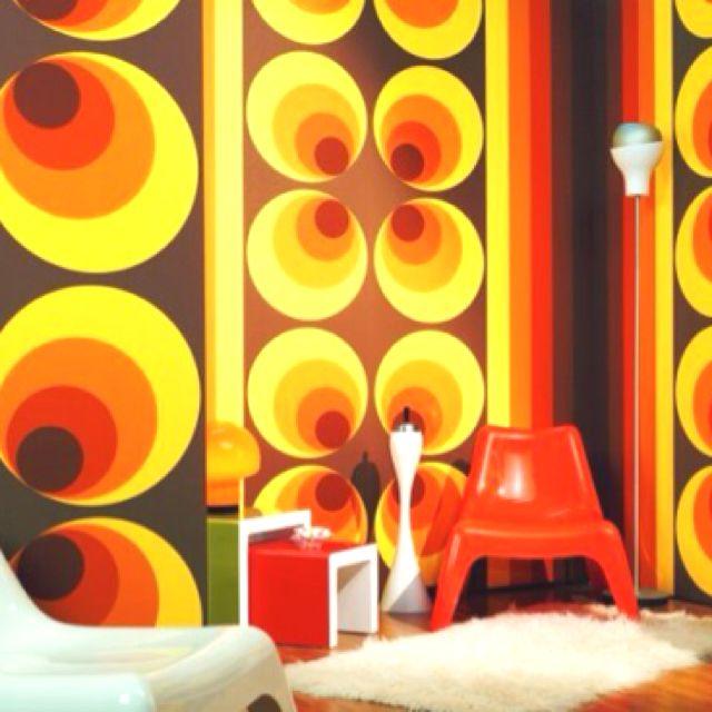Cake inspiration- seventies wallpaper .