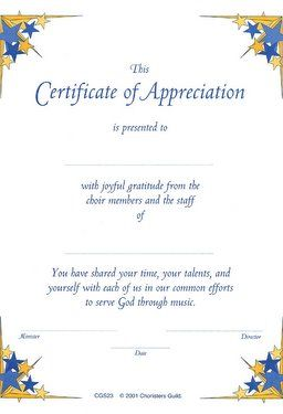 Cgs Certificate Of Appreciation  Words Of Wisdom