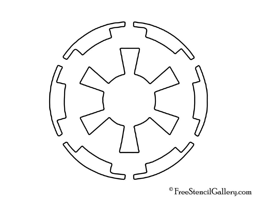 graphic about Star Wars Pumpkin Stencils Free Printable known as absolutely free star wars habits Star Wars Galactic Empire Logo