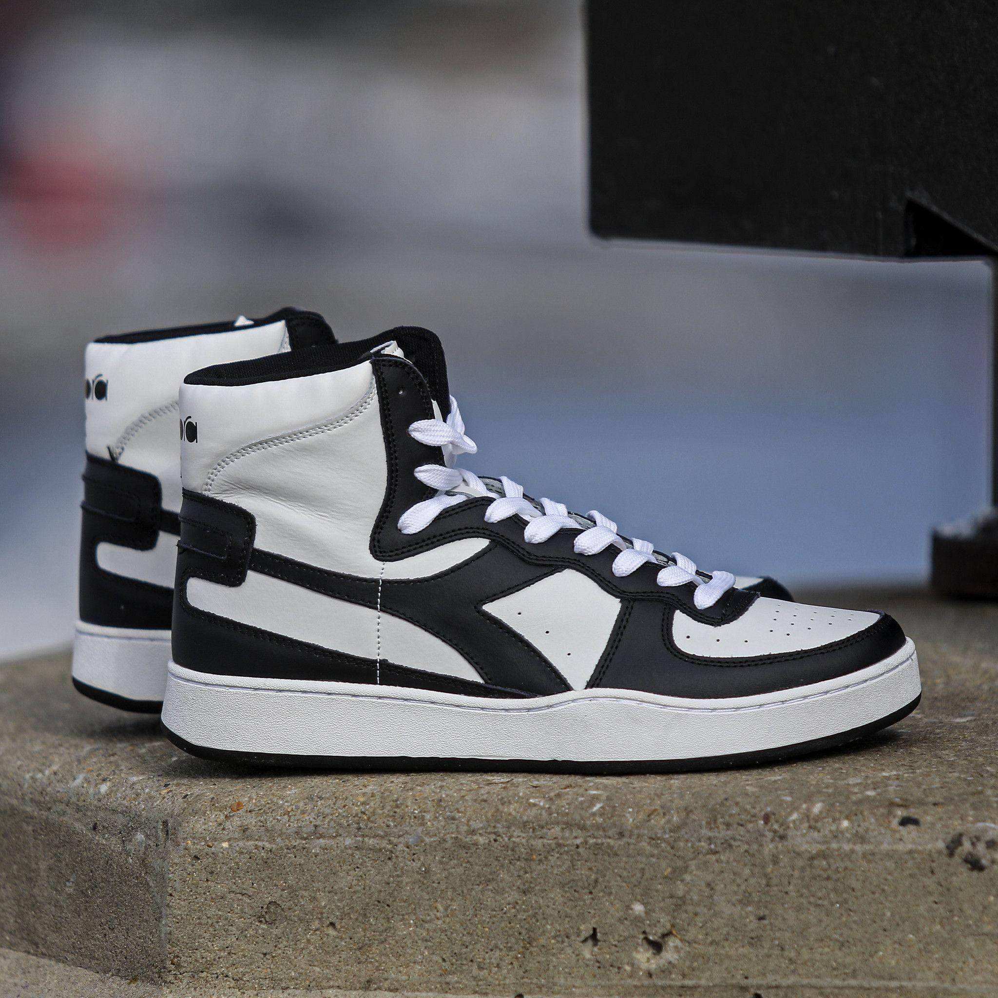 0fbf260e7886 Diadora - Mi Basket - White   Black Jordans Sneakers