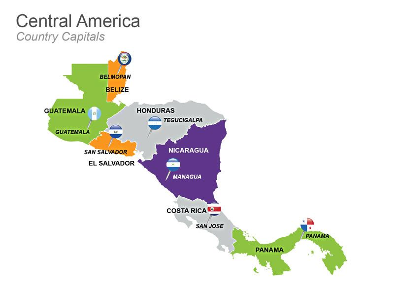 Central america map apple keynote template these 3 editable central america map apple keynote template these 3 editable keynote slides are used to gumiabroncs Images