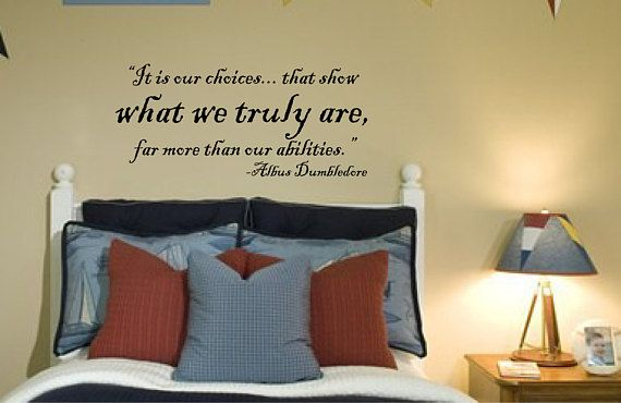 """wall decal harry potter quote: it is our choices 029-36"""" 