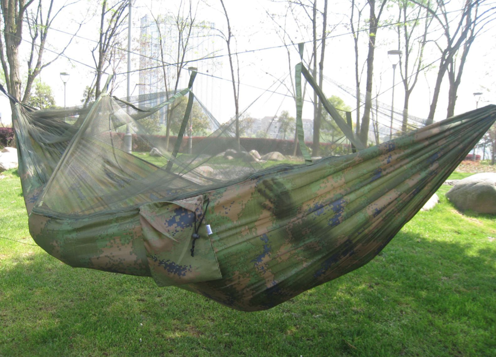 Waterproof parachute fabric tactical hammock mosquito net