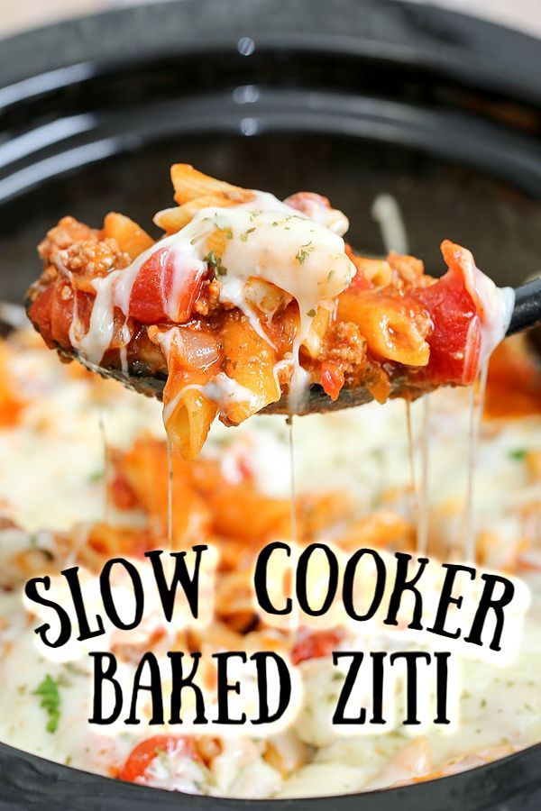 SLOW COOKER BAKED ZITI - crockpot meals - #Baked #Cooker #Crockpot #Meals #Slow #Ziti #crockpotmeals
