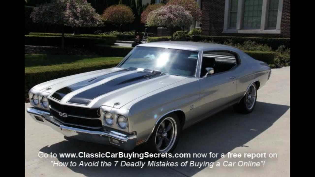 Old Chevy Muscle Cars | 1970 Chevy Chevelle SS Clone Classic Muscle ...