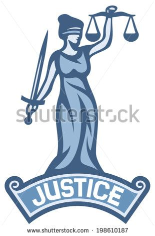 Justice Statue Label Scales Of Justice Symbol Lady Justice A