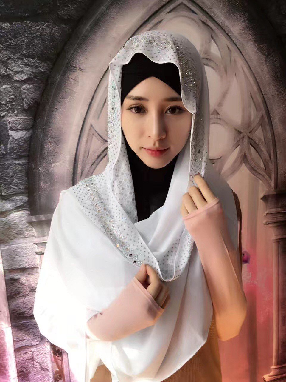 9d7cc7c903 Women Ladies Long Scarf Grilling Shawls Head Wrap Muslim Islamic Headscarf  Sequins Full Cover Scarf Hijabs Turban Middle East