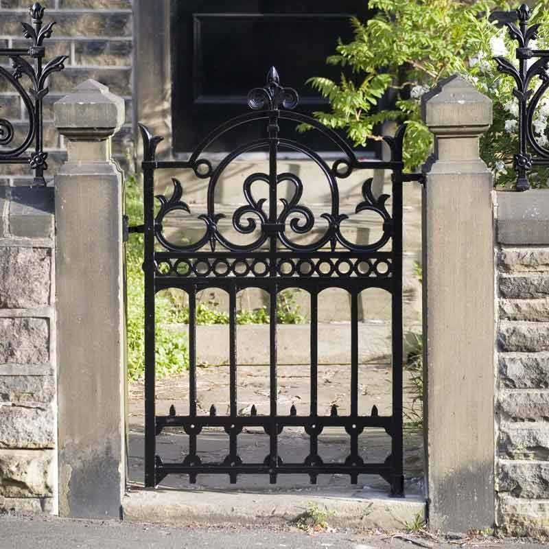 Delicieux Wrought Iron Garden Gates | Herb Garden Design UK I Like The Stone Columns  And The Railing