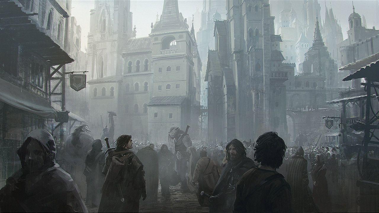 ArtStation - Fantasy city, JAN DITLEV